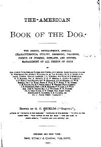 The American Book of the Dog (inside frontispiece